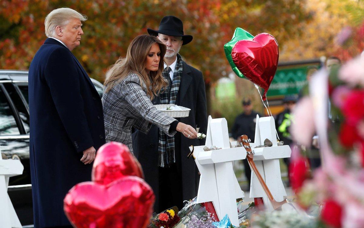 Trump acude a los funerales de las víctimas de la matanza en Pittsburgh