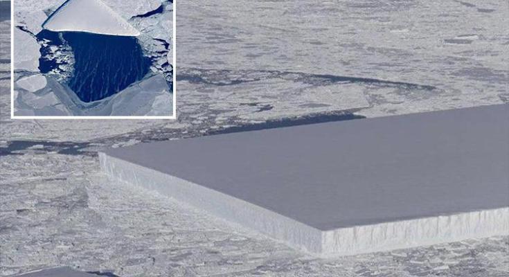 Nasa iceberg descubre en la antartica