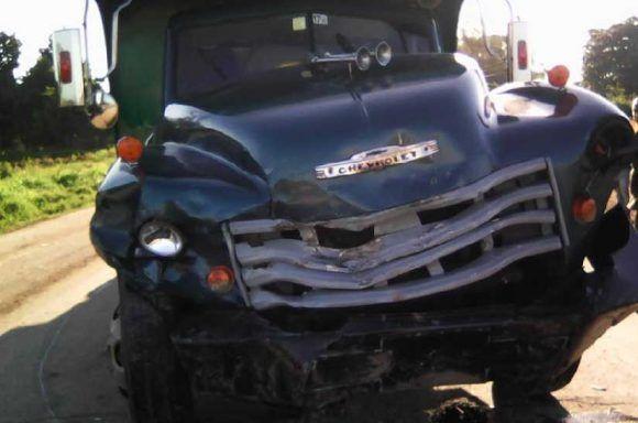 Mortal accidente en carretera central Sancti Spiritus