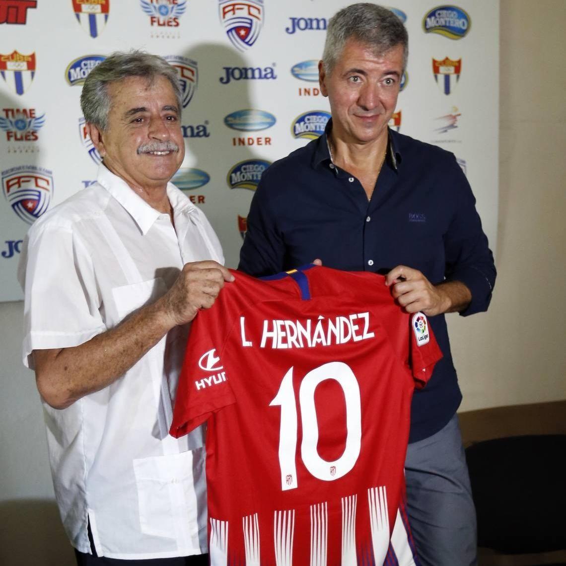 Federacion cubana de futbol y el atletico de madrid firman acuerdo de coperacion