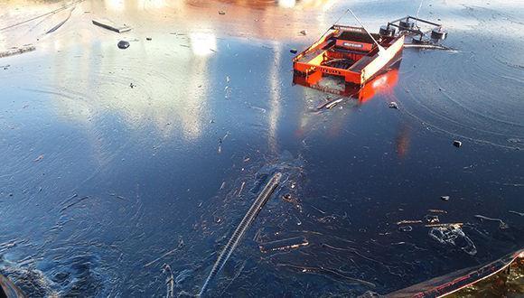 Derrame de petroleo en la bahía de matanzas