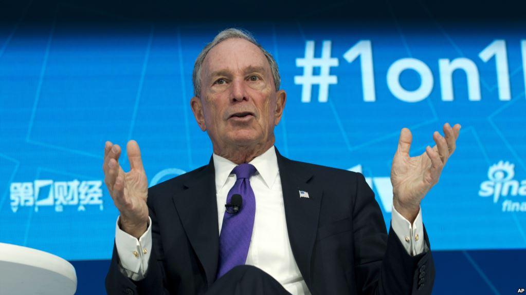 Michael Bloomberg ofrece $ 1.800 millones de su fortuna personal