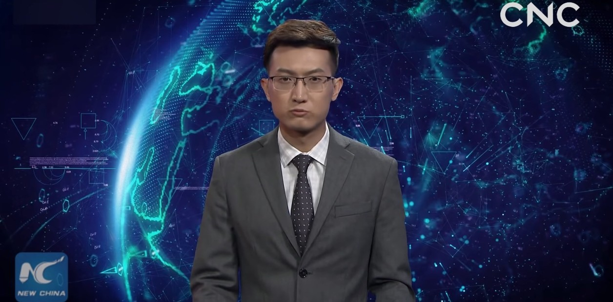 China lanza el primer robot humanoide que presenta noticias en TV
