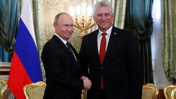 Miguel Díaz-Canel visita a Vladimir Putin en Moscú