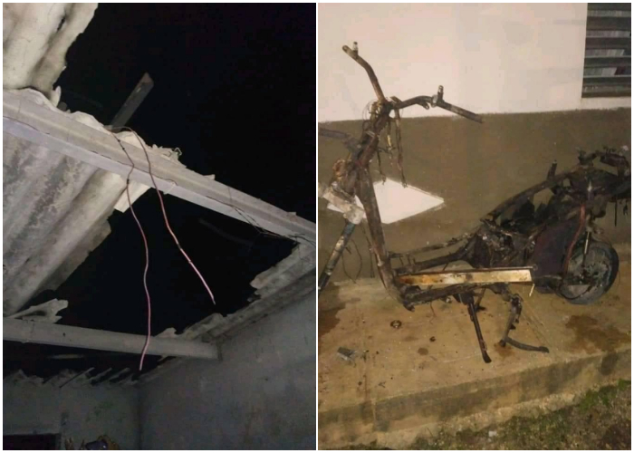 Explosión de motorina eléctrica causa destrozos a una vivienda en Matanzas