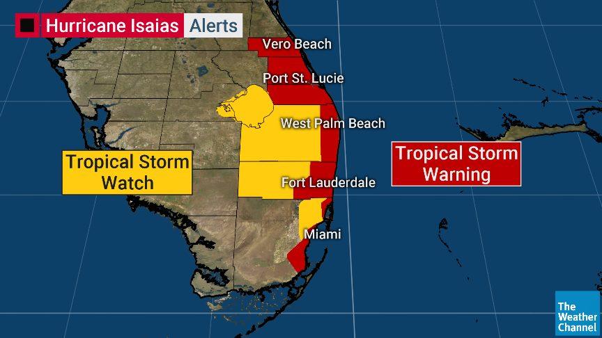 Gobernador de la Florida declara el estado de emergencia por el huracán Isaías
