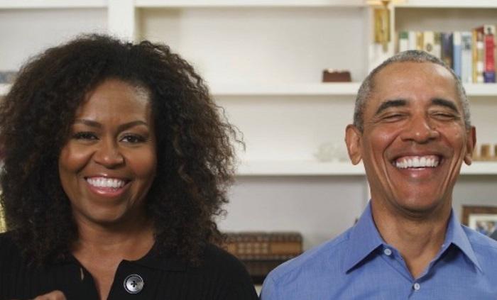 Obama y su esposa Michelle
