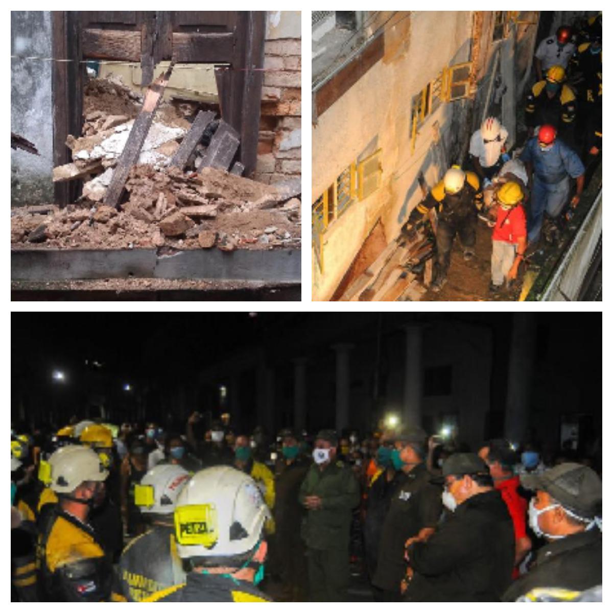 Los Bomberos estuvieron tres horas un duro trabajo para salvar la vida a la ciudadana María Magdalena Olivares