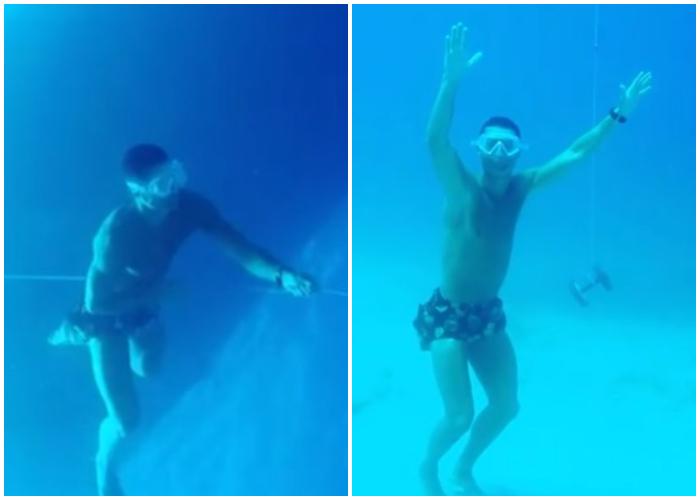 ¡Sorprendente! Cristiano Ronaldo se sumerge en el mar sin balón de oxígeno