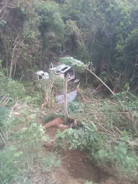 Accidente de guagua en el oriente cubano
