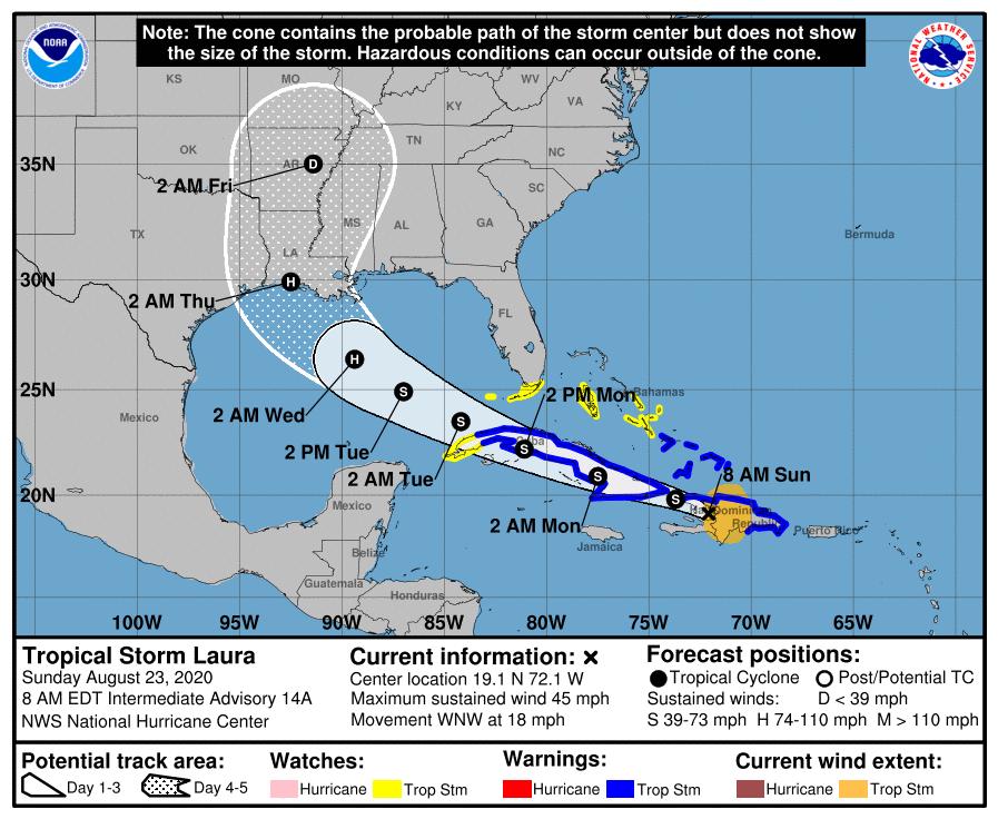 Aviso oficial: La tormenta tropical Laura impactará este domingo al oriente de Cuba