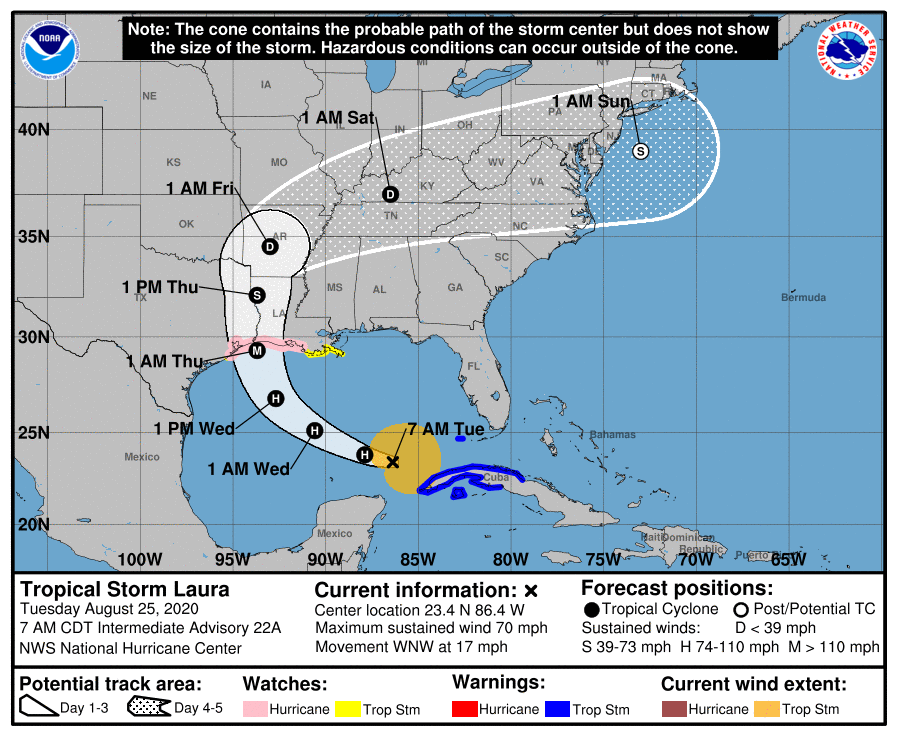 Laura se convierte en huracán mientras se aleja de Cuba
