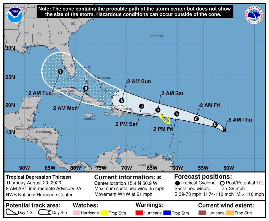 Posible tormenta tropical afectaría a Cuba y la Florida