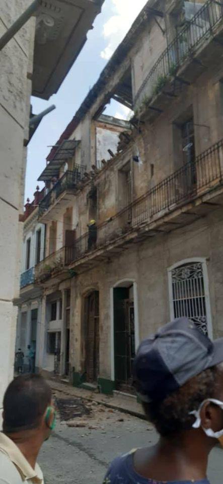 Derrumbe en La Habana Vieja