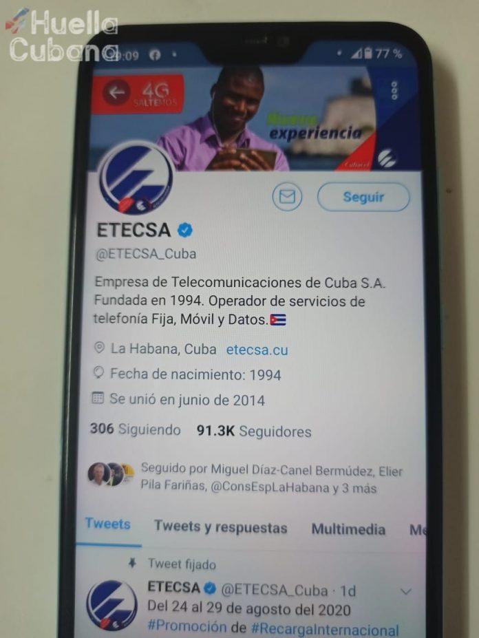 ETECSA advierte de afectaciones en la red celular