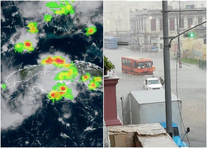 Impactantes imágenes de La Habana bajo agua tras una tormenta local