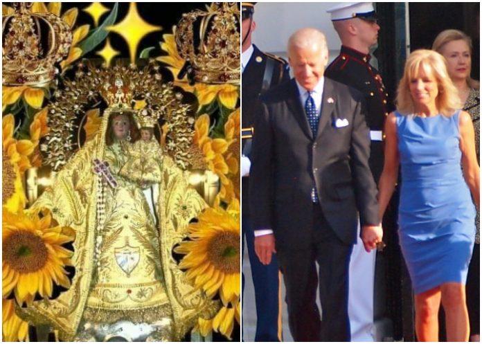 Joe Biden se apoya en la Virgen de la Caridad para su campaña electoral en la Florida