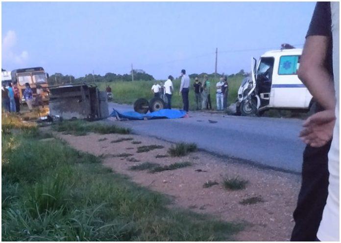 Un muerto y otro herido por accidente de tránsito en Cienfuegos