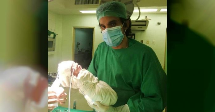 Bebé abandonado en hospital de La habana