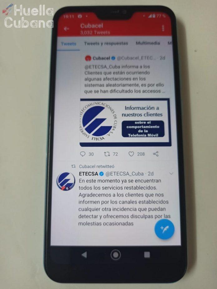 Etecsa consigue 100 mil seguidores en Twitter, pero los pierde en horas