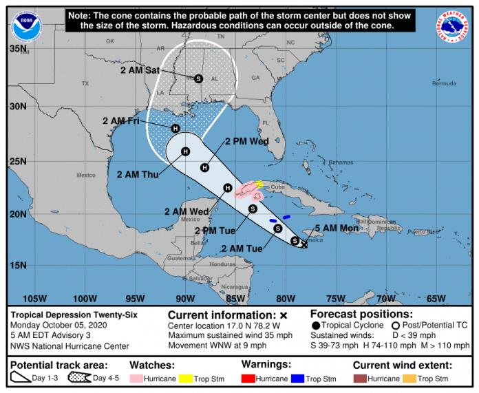 Posible tormenta tropical afectaría al occidente cubano