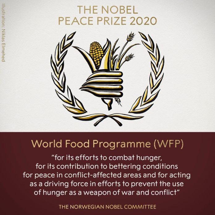 Premio Nobel de la Paz 2020 es para combatir el hambre en el mundo