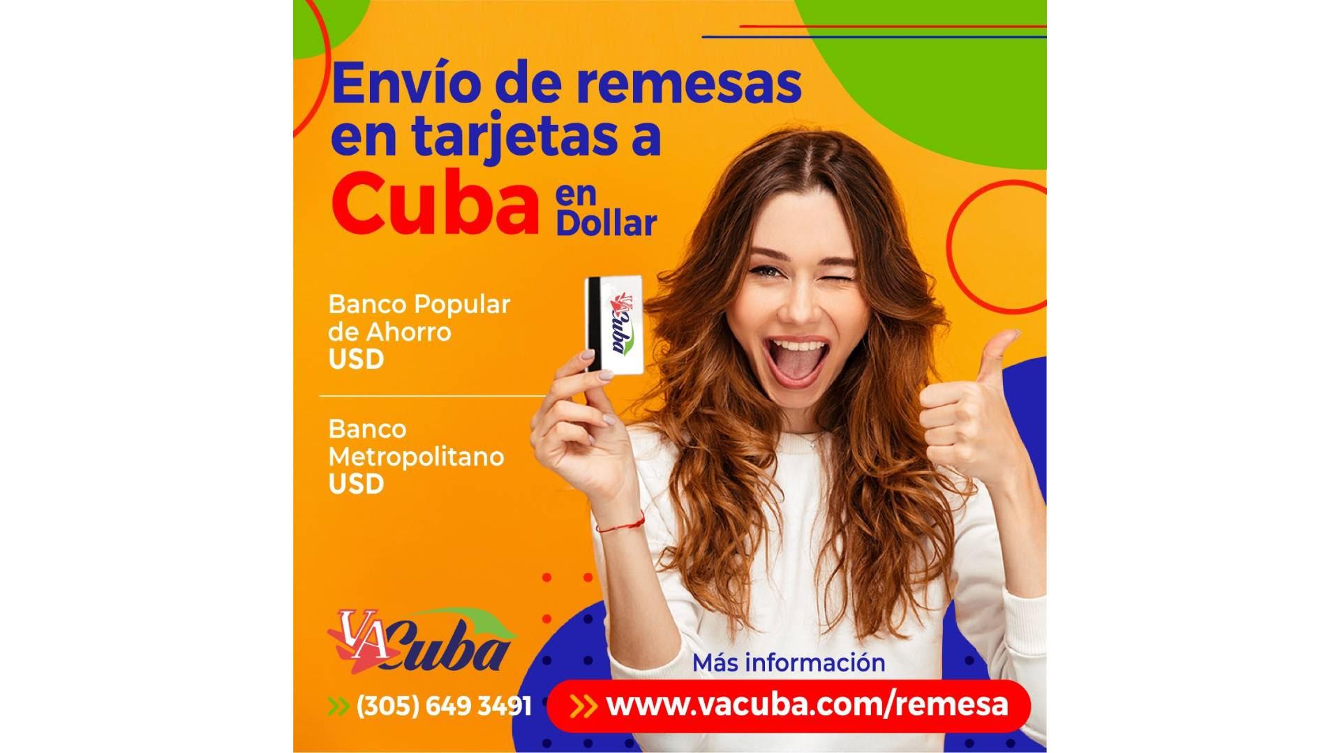 VaCuba reanuda sus servicios de envíos de remesas en dólares a Cuba