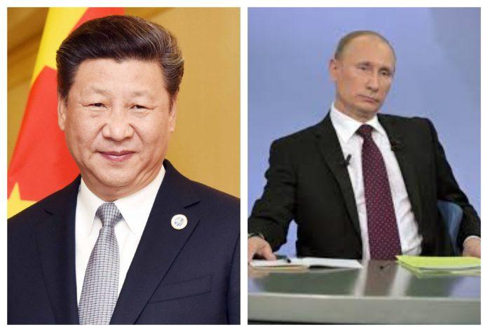 Presidentes de Rusia y China